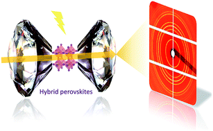 Graphical abstract:Pressure-induced dramatic changes in organic–inorganic halide perovskites